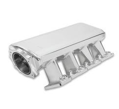 HOLLEY SNIPER INTAKE MANIFOLD W/ FUEL RAIL KIT - SHEET METAL - 92mm - LS1/LS2/LS6 - SILVER - 820101