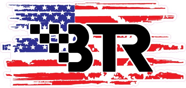 "BTR AMERICAN FLAG 8.5"" X 4"" - BTRDECAL85US"