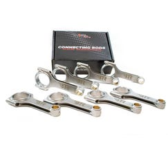 """BTR 4340 FORGED H BEAM CONNECTING RODS W/ARP BOLTS, 6.125"""" LONG - SET OF 8"""