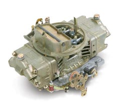 HOLLEY CARB - DOUBLE PUMPER - 4150 - 650CFM - 4 BARREL - DOMINATOR - MAUAL CHOKE - DUAL INLET - DICHROMATE - 0-4777C
