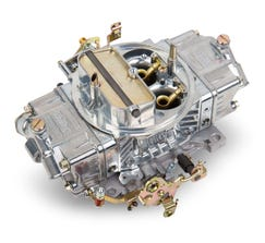 HOLLEY CARB - DOUBLE PUMPER - 4150 - 650CFM - 4 BARREL - DOMINATOR - MANUAL CHOKE - DUAL INLET - SILVER - 0-4777S