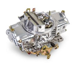 HOLLEY CARB - DOUBLE PUMPER - 4150 - 650CFM - 4 BARREL - HOLLEY 2-BARREL - MANUAL CHOKE - DUAL INLET - POLISHED - 0-4777SA