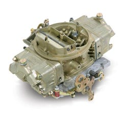 HOLLEY CARB - DOUBLE PUMPER - 4150 - 850CFM - 4 BARREL - SQUARE BORE - MANUAL CHOKE - DUAL INLET - DICHROMATE - 0-4781C