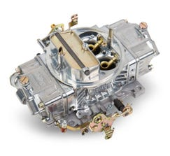 HOLLEY CARB - DOUBLE PUMPER - 4150 - 850CFM - 4 BARREL - SQUARE BORE - MANUAL CHOKE - DUAL INLET - SILVER - 0-4781S