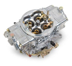 HOLLEY CARB - DOUBLE PUMPER - SUPERCHARGER - 4150 - 750CFM - 4 BARREL - SQUARE BORE - NO CHOKE - DUAL INLET - SILVER - 0-80576S