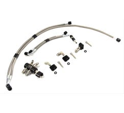 NITROUS OUTLET COOLANT CROSSOVER KIT - FAST 102MM INTAKES - STAINLESS BRAIDED - 03-51003 GS