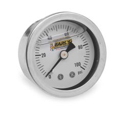 EARL'S PRESSURE GAUGE - OIL FILLED - 100 PSI - 100187ERL