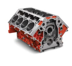 "CHEVROLET PERFORMANCE ENGINE BLOCK - LSX376 - 9.240"" DECK - 4.065"" BORE - 19260095"