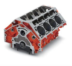 "CHEVROLET PERFORMANCE ENGINE BLOCK - LSX454 - 9.240"" DECK - 4.185"" BORE - 19260099"