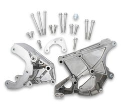 HOLLEY A/C ACCESSORY DRIVE BRACKET KIT - LS - FITS R4 COMPRESSOR - POLISHED - 20-131P