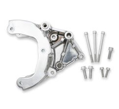 HOLLEY A/C ACCESSORY DRIVE BRACKET - LS - FITS R4 COMPRESSOR - PASSENGER SIDE - POLISHED - 20-133P