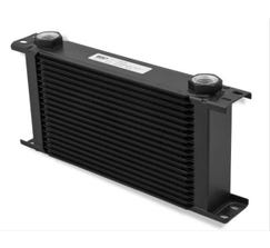 EARLS ULTRAPRO OIL COOLER - 10 ROW - WIDE - BLACK - 410ERL