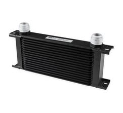 EARLS ULTRAPRO OIL COOLER - 16 ROW - WIDE - BLACK - 416-16ERL