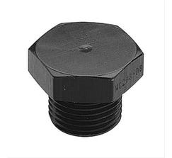 FRAGOLA PORT PLUG w/ O-RING - 8AN - BLACK - 481408-BL