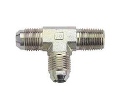 """FRAGOLA STEEL T-FITTING - (2) 3AN TO (1) 1/8"""" NPT - 582603"""