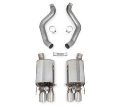 HOOKER BLACKHEART 05-08 CORVETTE BASE - AXLE-BACK EXHAUST WITH DUAL MODE (NPP) MUFFLERS - 70401313-RHKR