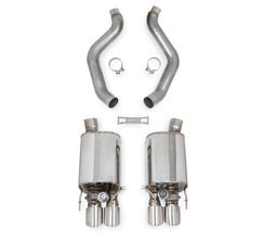 HOOKER BLACKHEART 09-13 CORVETTE AXLE-BACK EXHAUST WITH DUAL MODE (NPP) MUFFLERS 70401324-RHKR
