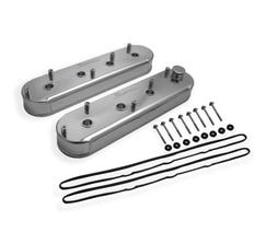 HOLLEY VALVE COVER - ALUMINUM - FABRICATED - SILVER - 890014