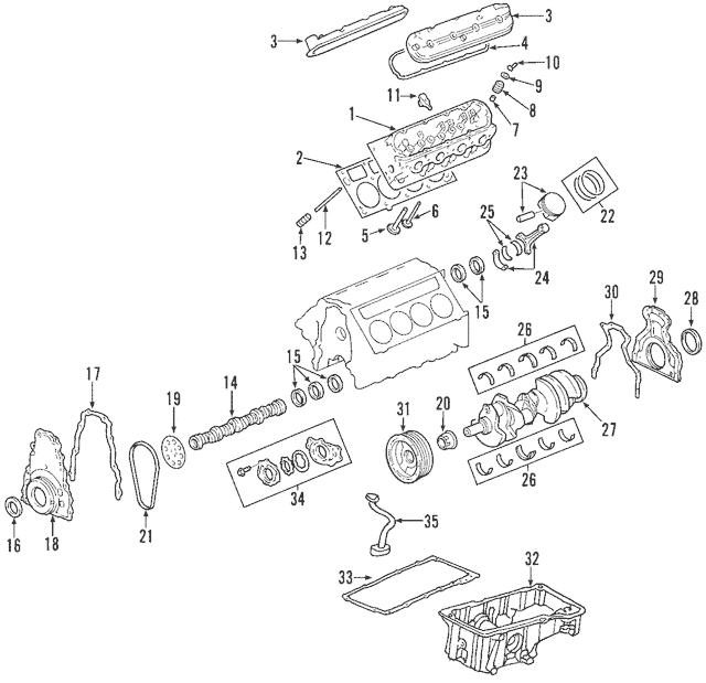 Chevrolet GM OEM 09-13 Corvette-Crankshaft Crank Gear 12622539