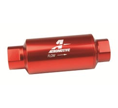 "AEROMOTIVE - 10AN FUEL FILTER - 5.5"" LONG - 10 MICRON - RED - AEI-12301"
