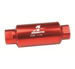 "AEROMOTIVE - 10AN FUEL FILTER - E85 - 5.5"" LONG - 100 MICRON - RED - 12304"