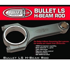 "CARRILLO CONNECTING ROD - BULLET SERIES - H-BEAM - 6.125""/2.100""/.927"" - C-LS-61257W"