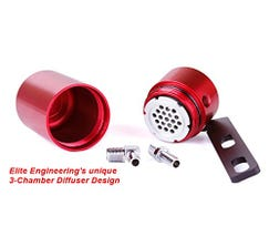 ELITE ENGINEERING CATCH CAN - 08-13 C6 CORVETTE - RED - CC-200R