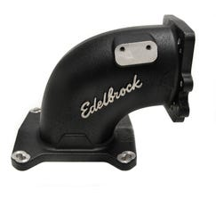 EDELBROCK HIGH FLOW INTAKE ELBOW - 95MM THROTTLE BODY TO 4150 FLANGE - BLACK - 38493