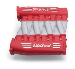 EDELBROCK INTAKE MANIFOLD - LS3 CROSS RAM - RED - 7141