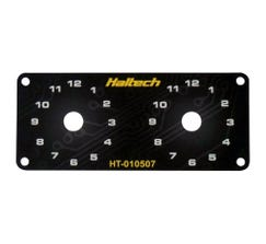 HALTECH SWITCH PANEL - DUAL SWITCH PANEL ONLY - INCLUDES YELLOW KNOB- HT-010507