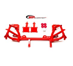 BMR K-MEMBER - LOW MOUNT TURBO - LS1 MOTOR MOUNTS - PINTO MOUNTS - 1993-2002 F-BODY - RED - KM019-1R