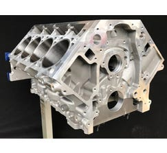 "CONCEPT ENGINE BLOCK - FULL METAL JACKET - 9.240"" DECK - DOUBLE CROSSBOLTED MAINS - ALUMINUM - LSR-FMJ-SD2X"