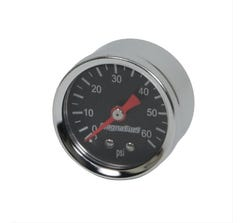 MAGNAFUEL FUEL PRESSURE GAUGE - 0-60 PSI - BLACK - MP-0102