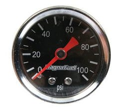 MAGNAFUEL FUEL PRESSURE GAUGE - 0-100 PSI - BLACK - MP-0103