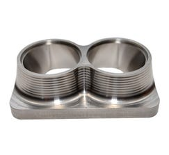 """STREET CARR FABRICATION T6 FLANGE WITH DUAL 2.25"""" INLET - SCFT6225D"""