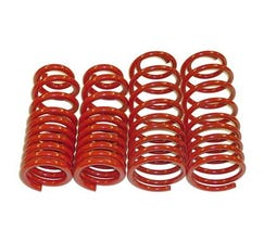 "BMR LOWERING SPRING KIT - SET OF 4 - 1.25"" DROP - 1993-2002 F-BODY - RED - SP001R"