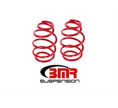 "BMR LOWERING SPRINGS - FRONT - 1"" DROP - 220 SPRING RATE - V8 - 2010-2015 CAMARO - RED - SP020R"