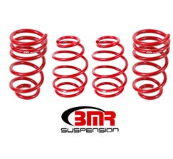 "BMR LOWERING SPRING KIT - SET OF 4 - FRONT 1.4"" - REAR 1"" - V8 - 2010-2015 CAMARO - RED - SP025R"