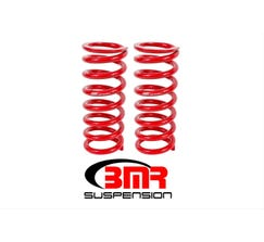 "BMR LOWERING SPRINGS - FRONT - 1"" DROP - 525 SPRING RATE - 1979-2004 MUSTANG - RED - SP028R"