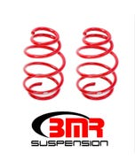 "BMR LOWERING SPRINGS - FRONT - 1.25"" DROP - 220 SPRING RATE - V8 - 2010-2015 CAMARO - RED - SP078R"
