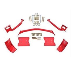 BMR TORQUE BOX REINFORCEMENT PLATE KIT(TBR005R AND TBR003R) - 1979-2004 MUSTANG - RED - TBR004R