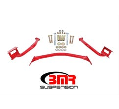 BMR TORQUE BOX REINFORCEMENT PLATES - UPPER ONLY (TUBULAR STYLE) - 1979-2004 MUSTANG - RED - TBR005R