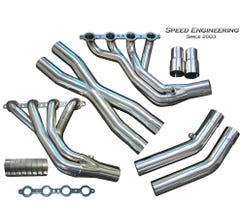 "SPEED ENGINEERING LS1 LS6 C5 Corvette Longtube Headers (1 7/8"" Race Version) X-Pipe ""Stainless"""