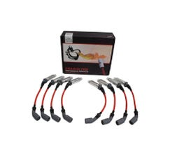 DRAGON FIRE PERFORMANCE 500 OHM PLUGWIRES - RED - FOR HIGH VALVE COVER MOUNTING - SPW1012-RD